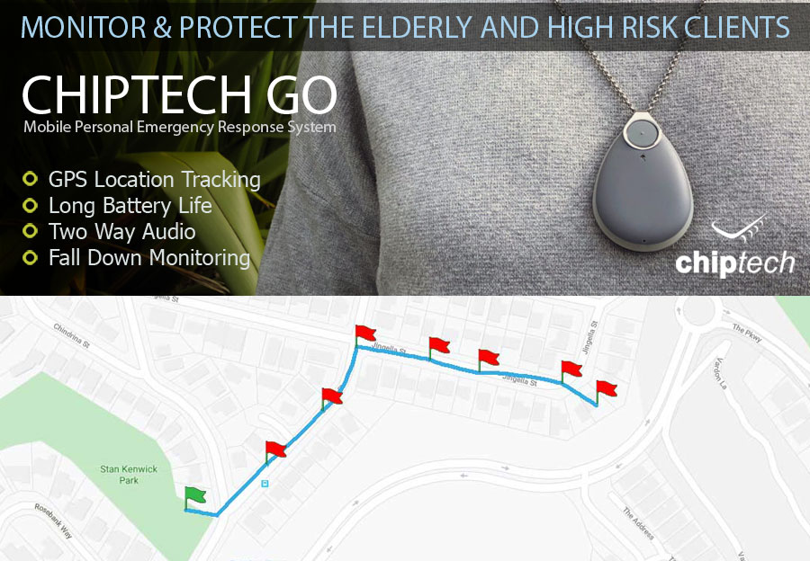 Chiptech GO Monitor and Response personal duress device