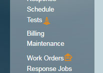 Work Order and Test Mode Icons